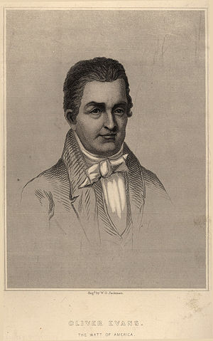 Oliver Evans (Engraving by W.G.Jackman)
