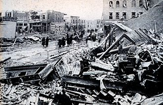 March 1913 tornado outbreak sequence - Photograph of tornado damage in Omaha
