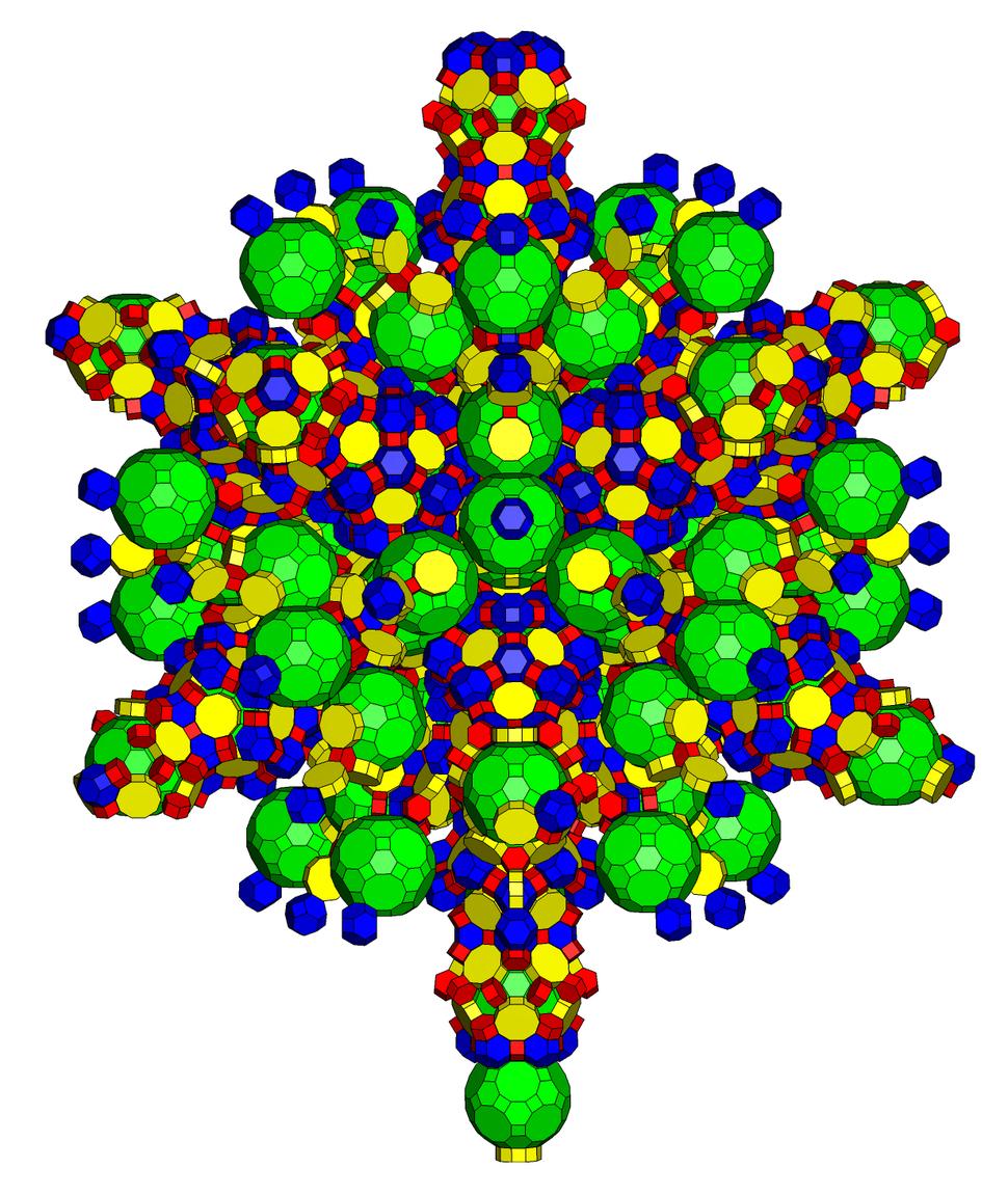 Omnitruncated 120-cell net
