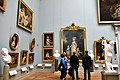 One of the halls at the Nationalmuseum, Sweden. The portrait of Queen Marie Antoinette of France appears.jpg