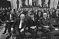 Op de eerste rij in de Ridderzaal v.l.n.r. premier Den Uyl en de ministers Van …, Bestanddeelnr 927-4557.jpg