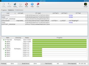 Ophcrack - Image: Ophcrack 3.2.0 screenshot