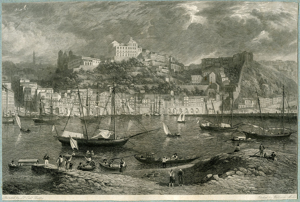 Vue sur Porto vers 1832 par William Miller.