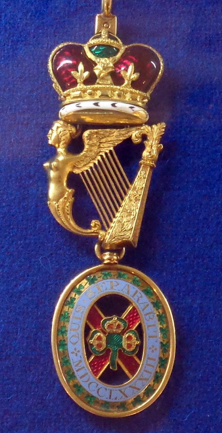 Order of Saint Patrick badge (United Kingdom 1860-1880) - Tallinn Museum of Orders