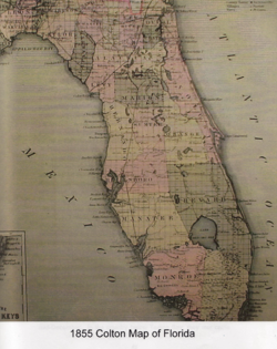 Map Of St Lucie County Florida.St Lucie County Florida 1844 1855 Wikipedia