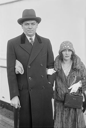Oscar Hammerstein II - Hammerstein with his first wife, Myra Finn, photographed aboard a ship.