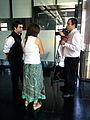 Osmar and Beatriz interviewed by CNN Chile - GLAM-WIKI Santiago - Stierch.jpg