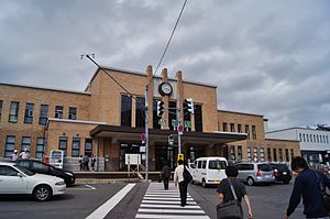 Otaru Station - The station frontage in August 2012