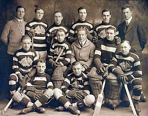 Art Ross - The Ottawa Senators during the 1914–15 NHA season. Ross is in the back row, fourth from left.