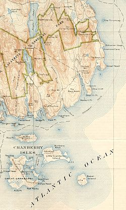 Otter Cliffs Radio Station (Bar Harbor, Maine) - USGS 1922.jpg