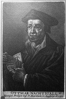 Ottmar Nachtgall (1480–1537) (Quelle: Wikimedia)