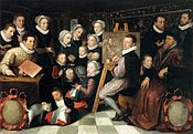 Otto van Veen - The Artist Painting, Surrounded by his Family - WGA24343.jpg