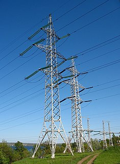 Overhead power line above-ground structure for bulk transfer and distribution of electricity