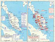 Pacific War - Malaya 1941-42 - Map
