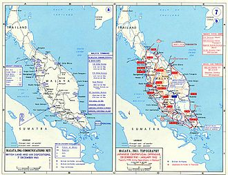 Malayan Campaign - Map of the Malayan Campaign