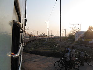 Renigunta Junction railway station - Padmavathi Express near Renigunta Junction