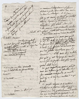 Page from original working manuscript of Democracy in America by Alexis de Tocqueville.jpg
