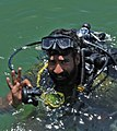 Pakistan Navy diver give an OK (cropped).jpg