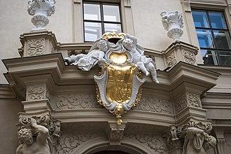 Stadtpalais Liechtenstein - Image: Palais Liechtenstein Portal Minoritenplatz