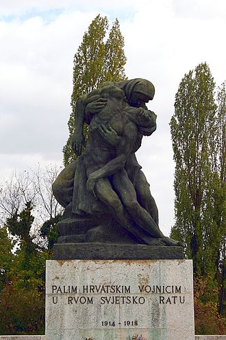 Kingdom of Croatia-Slavonia - Memorial to Croatian soldiers who fought in World War I