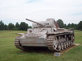 Panzer III - A Panzerkampfwagen III Ausf L formerly on display at the US Army Ordnance Museum in Aberdeen, Maryland
