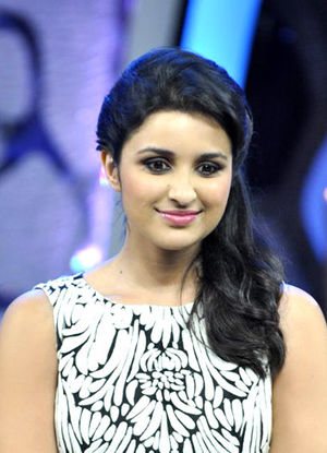 Parineeti Chopra - Chopra at a promotional event for Shuddh Desi Romance in 2013