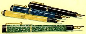 Parker Duofold pens from a 1920s magazine adve...