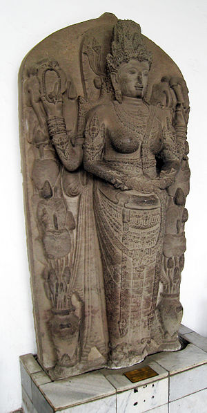 Women in Indonesia - Tribhuwanottunggadewi, queen of Majapahit, portrayed as Parvati.