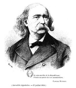 Clémence Royer - Portrait ca. 1880 of Pascal Duprat (1815-1885).