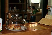 Coffeehouses in the United States often sell pastries or other food items