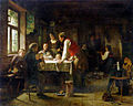 Paul Eduard Richard Sohn, The appraiser's visit 1866.jpg