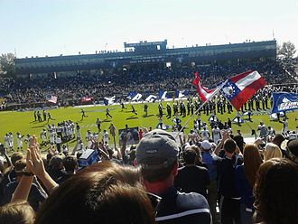 Paulson Stadium - Paulson Stadium during the pregame show with the Southern Pride marching band.
