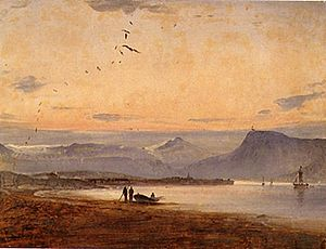 Hålogaland - Tromsø Peder Balke  This painting illustrates some of the rugged fjord and island terrain that was Hålogaland