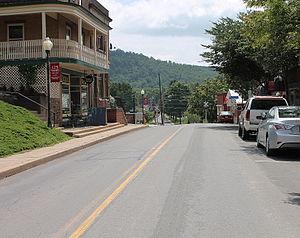 Montgomery, Pennsylvania - Pennsylvania Route 54 east in Montgomery, Pennsylvania