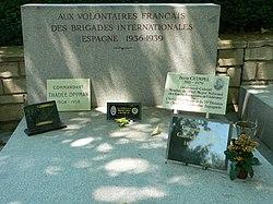 Français: Monument aux brigades internationales