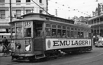 Trams in Perth - Tram 38 on Horseshoe Bridge, 1950