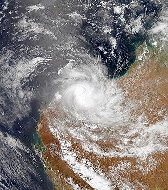 2012–13 Australian region cyclone season - Image: Peta Jan 23 2013 0550Z