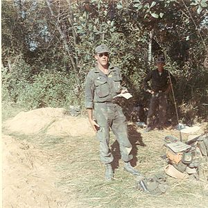 Pete Dawkins - Capt. Pete Dawkins in Vietnam, March 1966