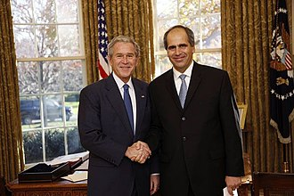 Peter Burian - Ambassador Peter Burian with President Bush after presenting his credentials December 3, 2008