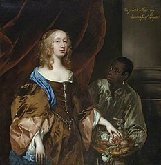 Elizabeth Murray, Lady Tollemache, later Countess of Dysart and Duchess of Lauderdale (1626-1698) with a  Black Servant