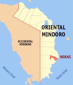 Roxas Oriental Mindoro Wikipedia - Roxas map