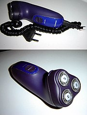 A rotary design electrical shaver