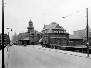 Broad street station philadelphia vintage photographs