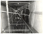 Photograph of Head-Chief Inspector of Structures Walking Through a Dirigible, ca. 1933 (7951500090).jpg