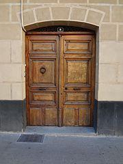 Photography by David Adam Kess, España, Aranda de Duero, Hand Carved Wooden Door, pic aa8.jpg