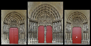 Laon Cathedral - The west façade portals