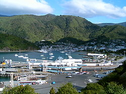 A view of the harbour in Picton