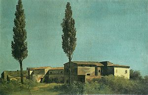 Pierre-Henri de Valenciennes - At the villa Farnèse : two poplars (À la villa Farnèse : les deux peupliers)