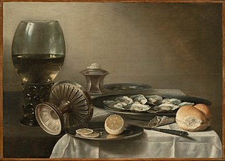Still Life with Wine Goblet and Oysters