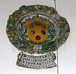 Pieve santo stefano, palazzo comunale, esterno, stemma giovenco di giuliano de' medici, 1505-06.jpg
